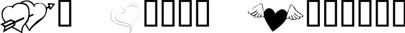 KR Cuori Divertenti 5 Font