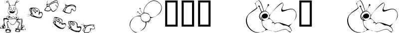 KR Cute As A Bug Font