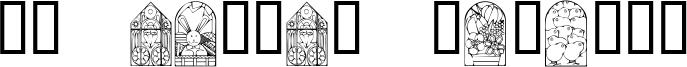KR Easter Windows Font