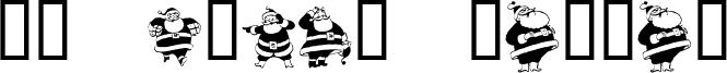 KR Eight Santas Font