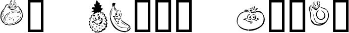 KR Happy Fruit Font