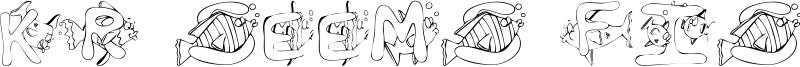 KR Seems Fishy To Me Font