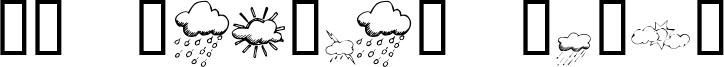 KR Weather Dings Font