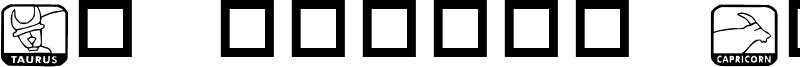 KR Zodiac Dings Font