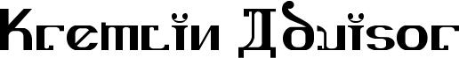 Kremlin Advisor Font