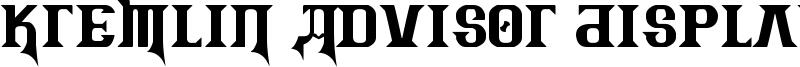 Kremlin Advisor Display Kaps Font