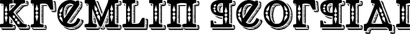 Kremlin Georgian Font