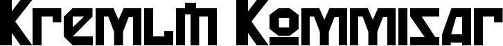 Kremlin Kommisar Font
