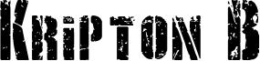 Kripton B Font