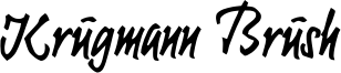 Krugmann Brush Font
