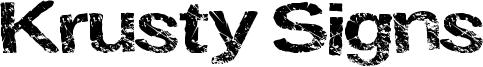 Krusty Signs Font