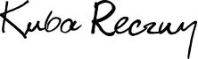 Kuba Reczny Font