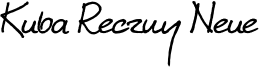 KubaRecznyNeue-Regular.otf