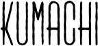 Kumachi Font