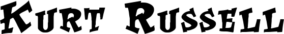 Kurt Russell Font