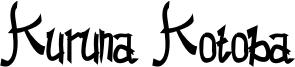 Kuruna Kotoba Font