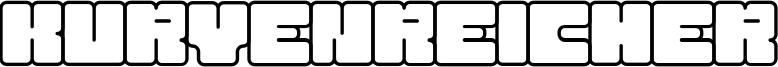 Kurvenreicher Font