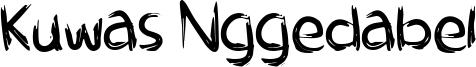 Kuwas Nggedabel Font