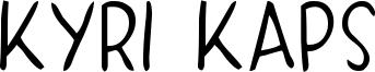 Kyri Kaps Font