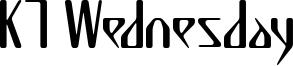 K7 Wednesday Font
