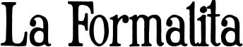La Formalita Font