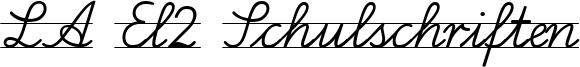 LA El2 Schulschriften Font