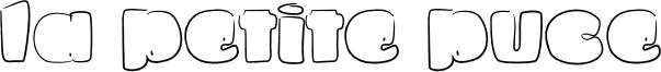 La petite puce Font