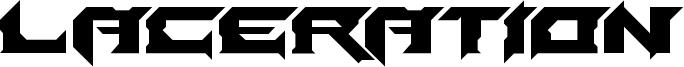 Laceration Font