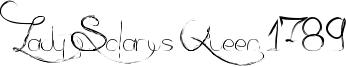 Lady Solarus Queen 1789 Font