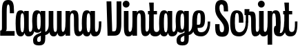 Laguna Vintage Script Font