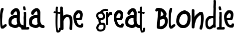 Laia the Great Blondie Font