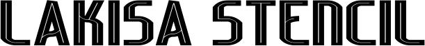Lakisa Stencil Font