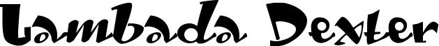 Lambada Dexter Font
