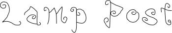 Lamp Post Font
