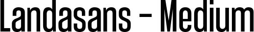 Landasans - Medium Font