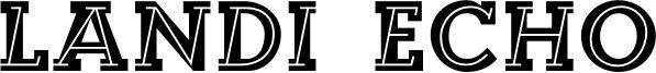 Landi Echo Font