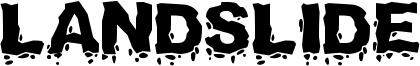 Landslide Font