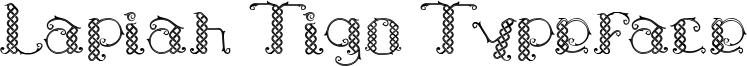 Lapiah Tigo Typeface Font