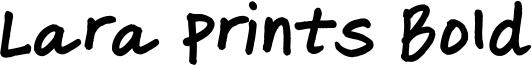 Lara Prints Bold Font