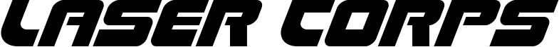 Laser Corps Font