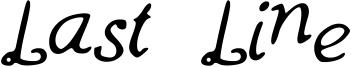 Last Line Font
