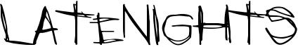LateNights Font