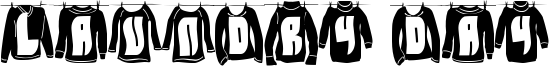 Laundry Day Font