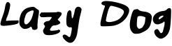 Lazy Dog Font