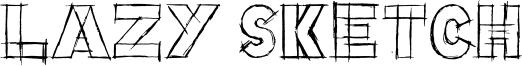 Lazy Sketch Font