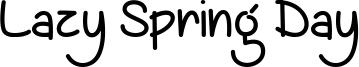 Lazy Spring Day Font