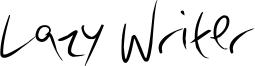 Lazy Writer Font