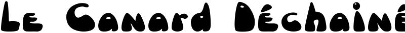 Le Canard Déchainé Font