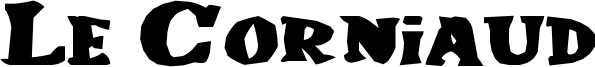 Le Corniaud Font