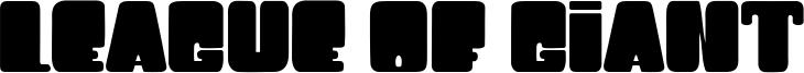 League Of Giant Font